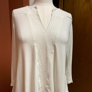 Adrianna papell white long sleeve shirt